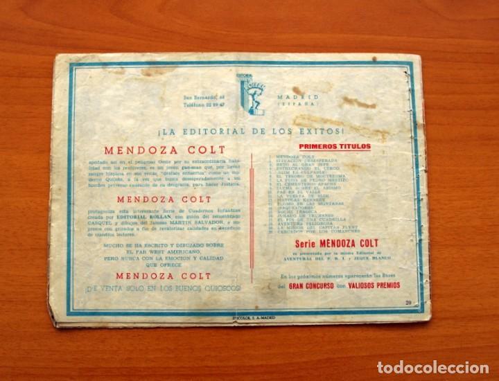 Tebeos: Mendoza Colt - Nº 20, Cercados por los Comanches - Editorial Rollán 1955 - Foto 10 - 139929522