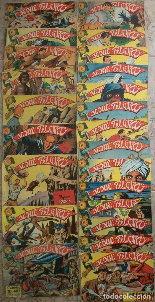 JEQUE BLANCO (ROLLAN) LOTE DE 22 NUMEROS (VER DESCRIPCION (Tebeos y Comics - Rollán - Jeque Blanco)
