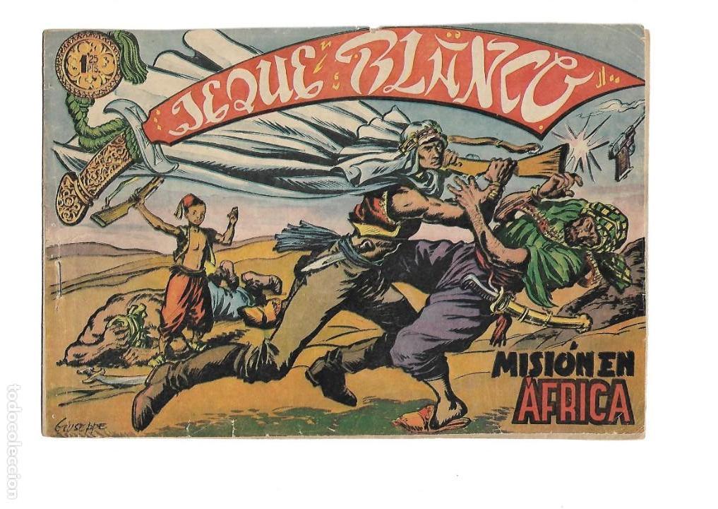 Tebeos: Jeque Blanco Año 1951 Colección Completa son 137 Tebeos y 4 Extraordinari Originales Dibujos Armando - Foto 15 - 140825438