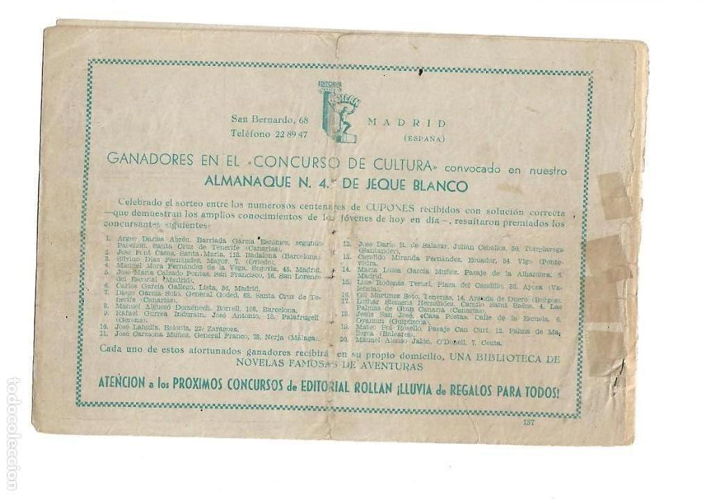 Tebeos: Jeque Blanco Año 1951 Colección Completa son 137 Tebeos y 4 Extraordinari Originales Dibujos Armando - Foto 18 - 140825438