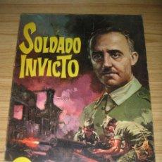 Tebeos: SOLDADO INVICTO (ROLLÁN, 1969) BIOGRAFÍA DE FRANCISCO FRANCO . Lote 145489406