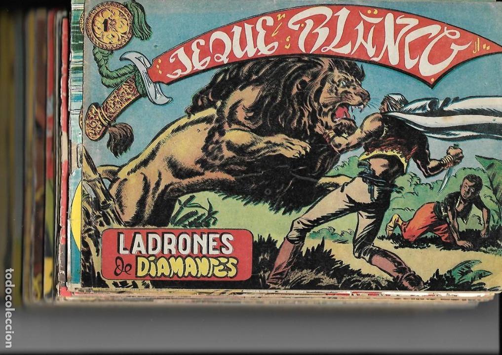Tebeos: Jeque Blanco Año 1951 Colección Completa son 137 Tebeos y 4 Extraordinari Originales Dibujos Armando - Foto 12 - 140825438