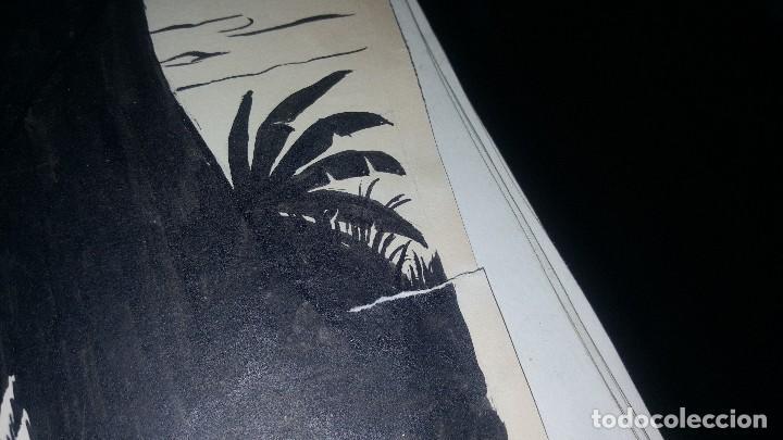 Tebeos: Originales jeque blanco, n° 68 huyendo del terror, cubierta y 10 pags. Firma armando - Foto 2 - 148601146