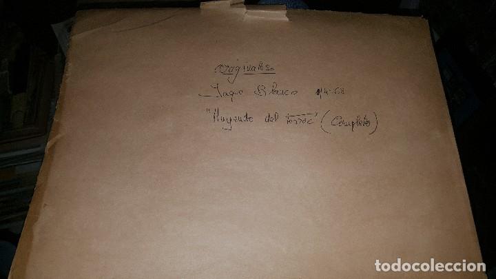Tebeos: Originales jeque blanco, n° 68 huyendo del terror, cubierta y 10 pags. Firma armando - Foto 9 - 148601146
