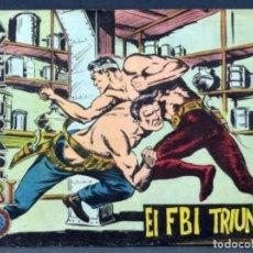 Tebeos: AVENTURAS DEL FBI Nº 13 EDITORIAL ROLLÁN 1958 EL FBI TRIUNFA. Lote 148928434