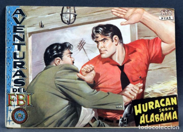 AVENTURAS DEL FBI Nº 171 EDITORIAL ROLLÁN 1958 HURACÁN SOBRE ALABAMA (Tebeos y Comics - Rollán - FBI)