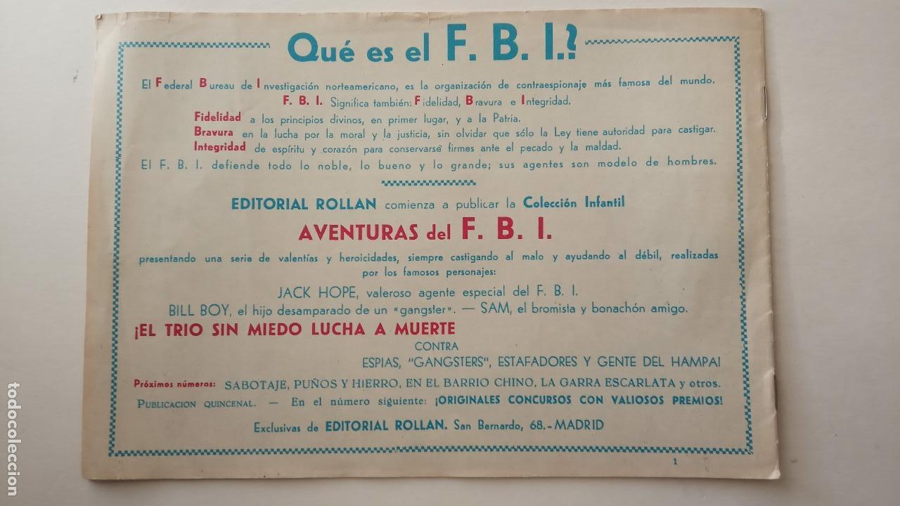 Tebeos: AVENTURAS DEL FBI ORIGINALES LOTE DE 78 NºS DEL 1 AL 165 - BUEN-MUY BUEN ESTADO - VER TODAS PORTADAS - Foto 7 - 150580062