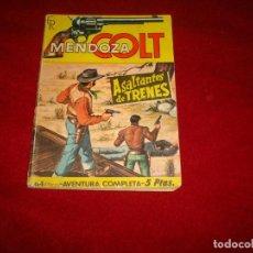 Giornalini: MENDOZA COLT Nº 35 ASALTANTES DE TRENES EDITORIAL ROLLAN 1965. Lote 152672366