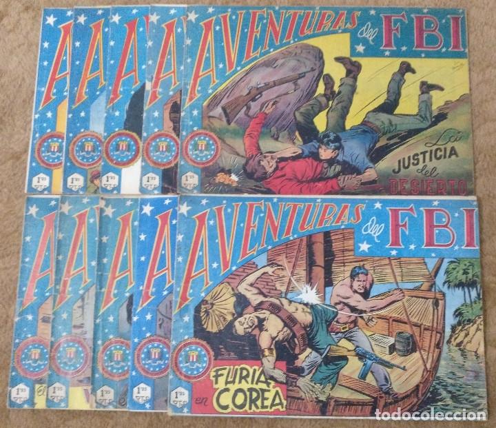 AVENTURAS DEL FBI Nº 33, 40, 46, 47, 56, 58, 81, 129, 130 Y 139 (ROLLAN 1952/56) 10 TEBEOS. (Tebeos y Comics - Rollán - FBI)