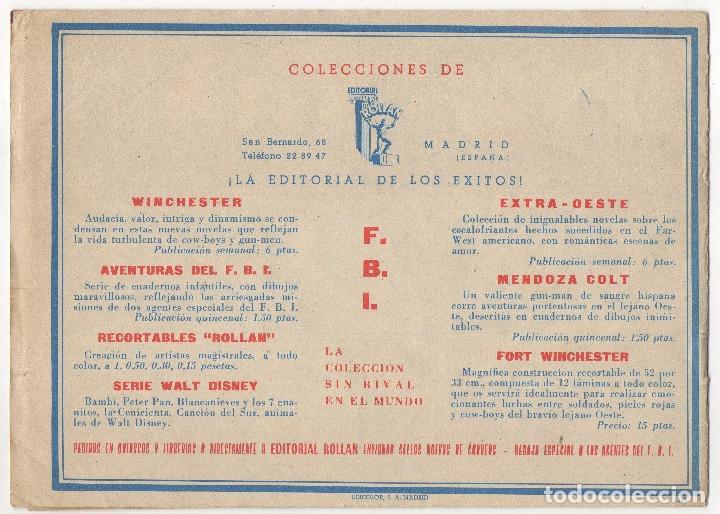 Tebeos: AVENTURAS DEL FBI nº 166, 168, 170, 171, 178, 182, 5 y 16 (Rollan 1957/58) 8 tebeos. - Foto 5 - 152029718