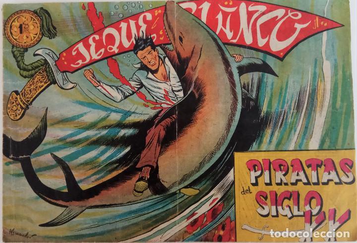 COLECCIÓN JEQUE BLANCO Nº 133 - PIRATAS DEL SIGLO XX - EDITORIAL ROLLAN (Tebeos y Comics - Rollán - Jeque Blanco)
