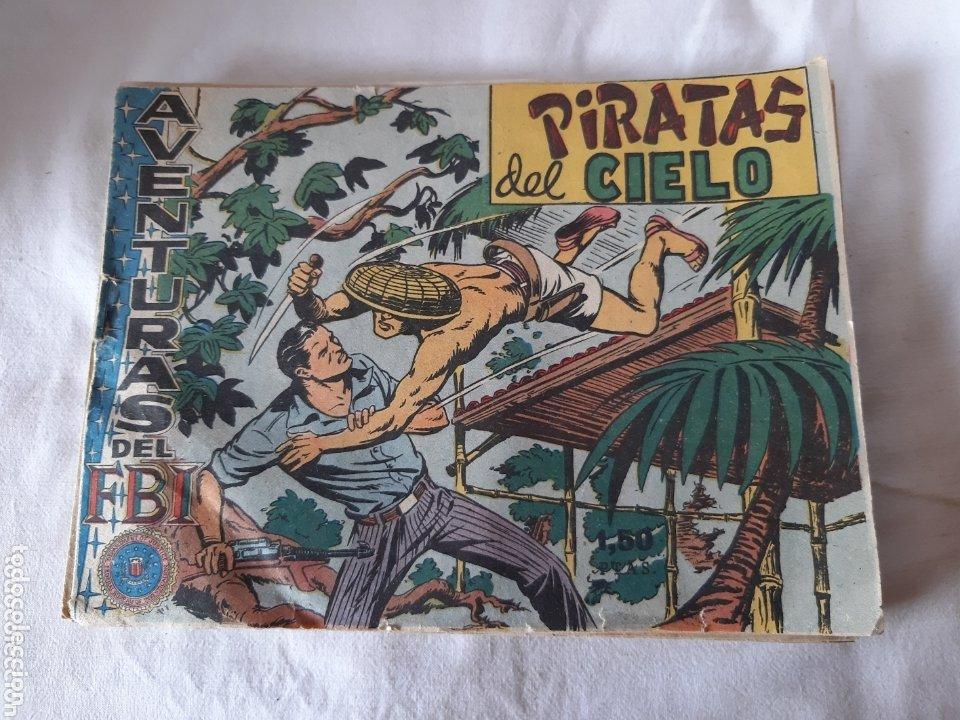 LOTE DE 12 TEBEOS AVENTURAS DEL FBI EDITORIAL R0LLAN 1958 (Tebeos y Comics - Rollán - FBI)