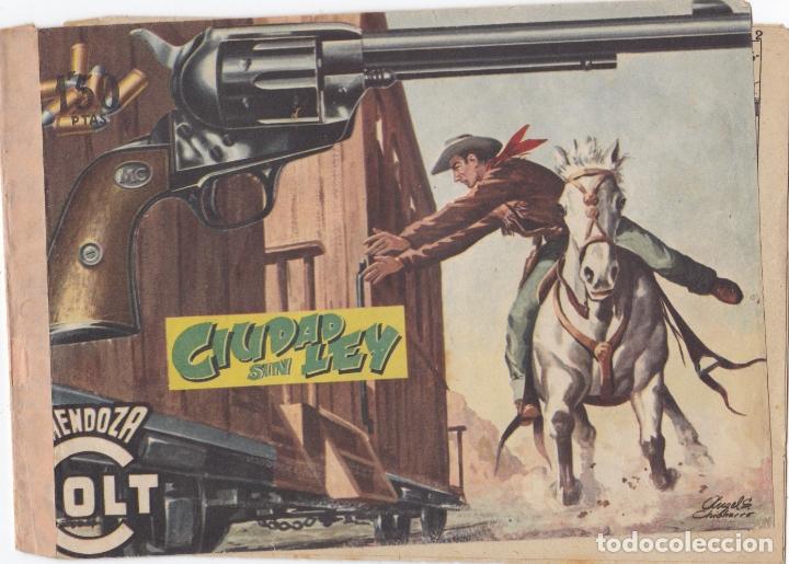 MENDOZA COLT Nº 33 CIUDAD SIN LEY EL DE LA FOTO VER FOTO ADICIONAL CONTRAPORTADA (Tebeos y Comics - Rollán - Mendoza Colt)
