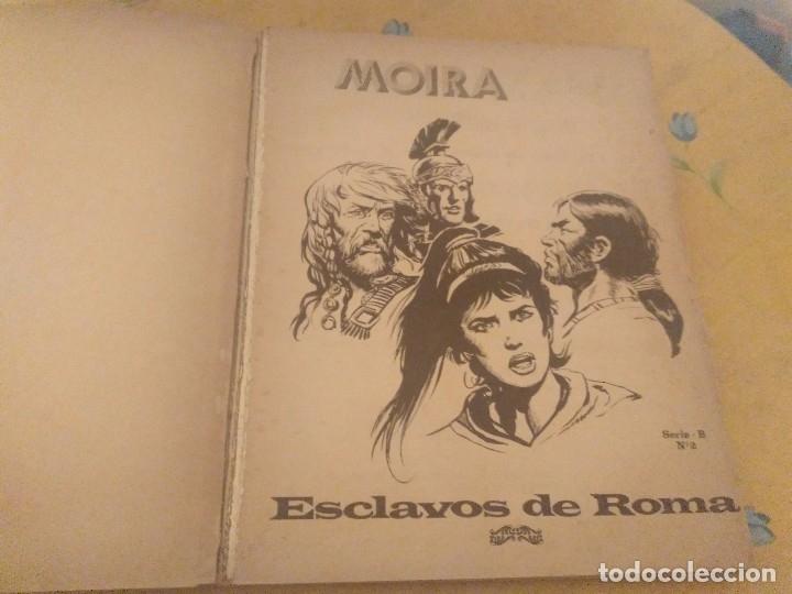 Tebeos: MOIRA 2 TITULOS SERIE B Nº2 ESCLAVOS DE ROMA Y SERIE B Nº 6 LA FURIA DE THORKIL - Foto 2 - 174501039