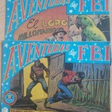 Tebeos: COMICS AVENTURAS DEL FBI DOS EJEMPLARES. Lote 177281713