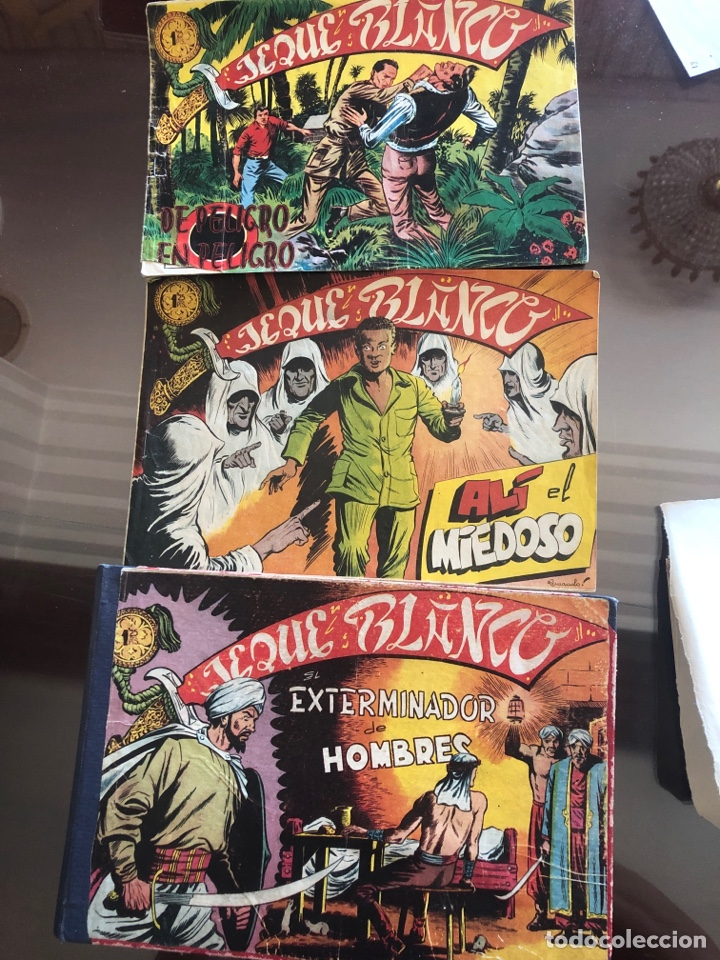 JEQUE BLANCO - LOTE DE 46 CÓMICS (Tebeos y Comics - Rollán - Jeque Blanco)