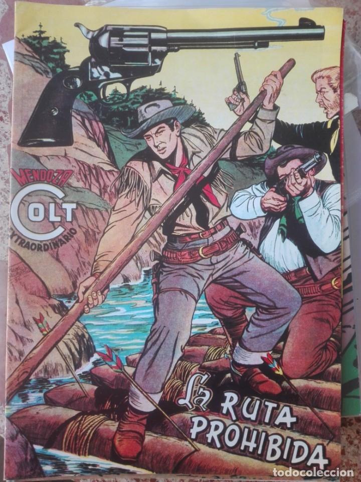 MENDOZA COLT EXTRAORDINARIO 2 LA RUTA PROHIBIDA-MUY DIFÍCIL-TAMAÑO 30'5X21# Y4 (Tebeos y Comics - Rollán - Mendoza Colt)