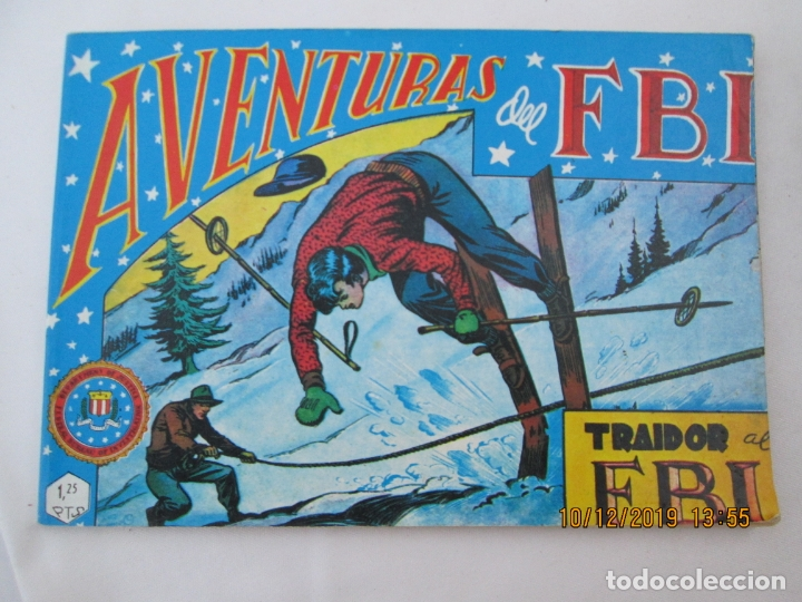 AVENTURAS DEL FBI Nº 6 TRAIDOR AL FBI - 1981 (Tebeos y Comics - Rollán - FBI)