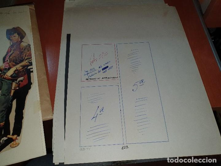Tebeos: Mendoza colt n° 7, negativos y maqueta del relato old ty y original del texto, numero no publicado - Foto 3 - 182665393