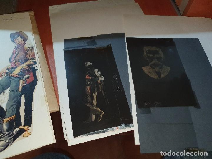 Tebeos: Mendoza colt n° 7, negativos y maqueta del relato old ty y original del texto, numero no publicado - Foto 5 - 182665393