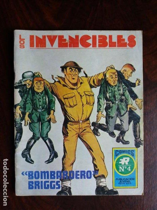 LOS INVENCIBLES. Nº 4. BOMBARDERO BRIGGS. EDITORIAL ROLLAN. 1973. (Tebeos y Comics - Rollán - Series Rollán (Azul, Roja, etc))