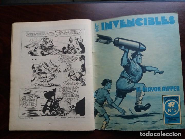 Tebeos: LOS INVENCIBLES. Nº 4. BOMBARDERO BRIGGS. EDITORIAL ROLLAN. 1973. - Foto 5 - 184710596