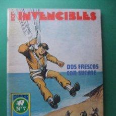 Tebeos: LOS INVENCIBLES Nº 7 DOS FRESCOS CON SUERTE EDITORIAL ROLLAN SERIE AZUL. Lote 187861055