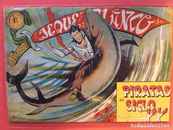 COLECCIÓN JEQUE BLANCO Nº 133 PIRATAS DEL SIGLO XX EDITORIAL ROLLAN (Tebeos y Comics - Rollán - Jeque Blanco)