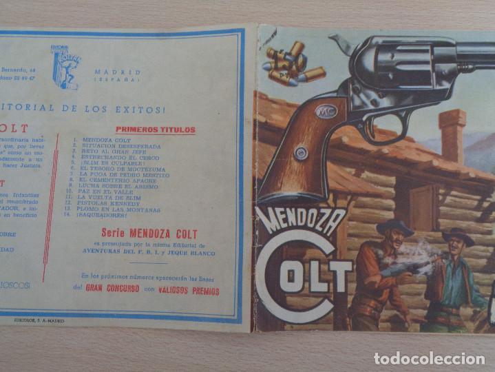 Tebeos: Mendoza Colt núm. 14. Saqueadores. Original. Edita Rollán. Buen estado - Foto 3 - 188806898