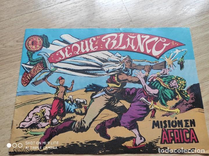 Tebeos: COMIC JEQUE BLANCO, MISION EN ÁFRICA, EN EL INTERIOR CUPON ESTUCHE - Foto 6 - 192227293