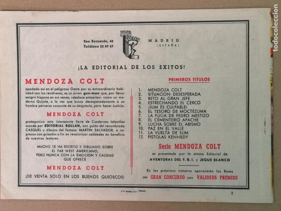 Tebeos: MENDOZA COLT EDT. ROLLAN N°2 - Foto 2 - 194236645