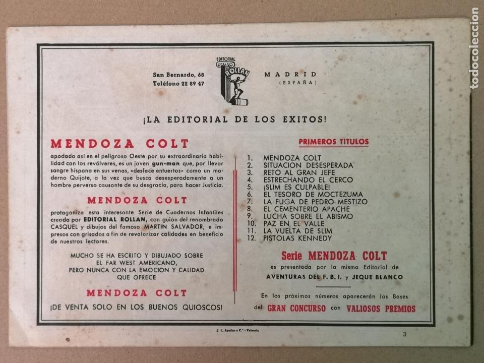 Tebeos: MENDOZA COLT EDT. ROLLAN N°3 - Foto 2 - 194236780