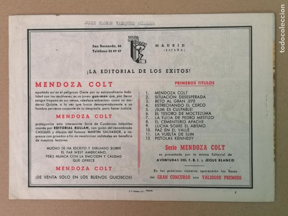 Tebeos: MENDOZA COLT EDT. ROLLAN N°4 - Foto 2 - 194236997