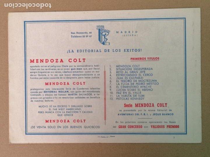 Tebeos: MENDOZA COLT EDT. ROLLAN N°5 - Foto 2 - 194237112