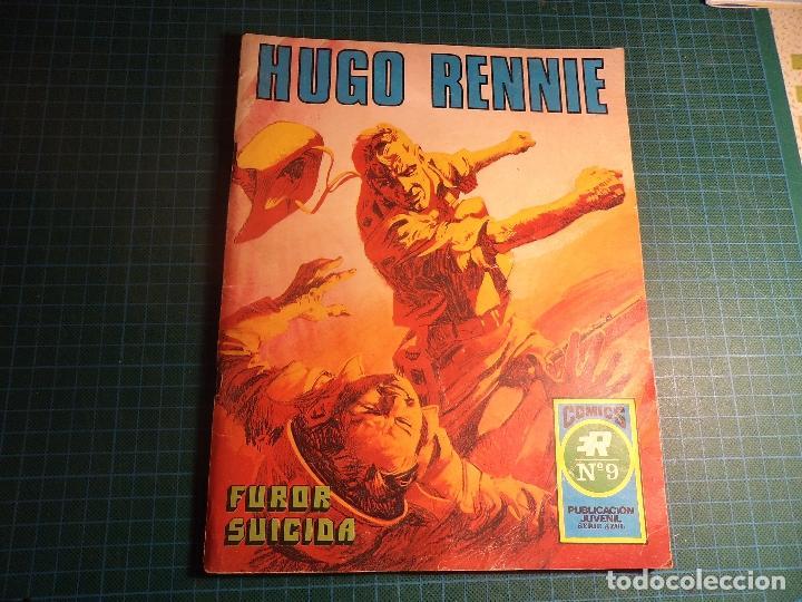 HISTORIAS GRAFICAS PARA JOVENES SERIE AZUL. Nº 9. HUGO RENNIE Nº 1. ROLLAN. (M-5). (Tebeos y Comics - Rollán - Series Rollán (Azul, Roja, etc))