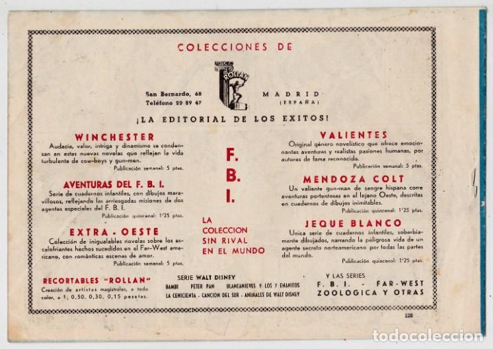 Tebeos: AVENTURAS DEL FBI Nº 128 - PISANDO BARRO - POR LUIS BERMEJO - EDITORIAL ROLLÁN - Foto 2 - 197607161