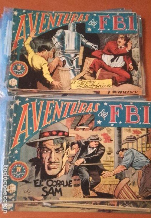 AVENTURAS DEL FBI EDITORIAL ROLLÁN LOTE DE 34 Nº. (Tebeos y Comics - Rollán - FBI)