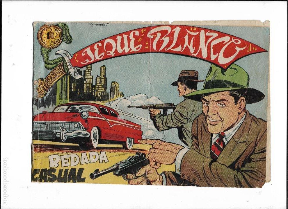 JEQUE BLANCO AÑO 1951 Nº 137 ES ORIGINAL EL ÚLTIMO DE LA COLECCIÓN DIBUJANTE ARMANDO (Tebeos y Comics - Rollán - Jeque Blanco)