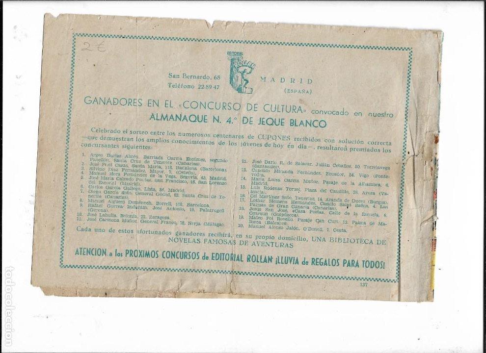 Tebeos: Jeque Blanco Año 1951 Nº 137 es Original el Último de la Colección Dibujante Armando - Foto 2 - 206537811