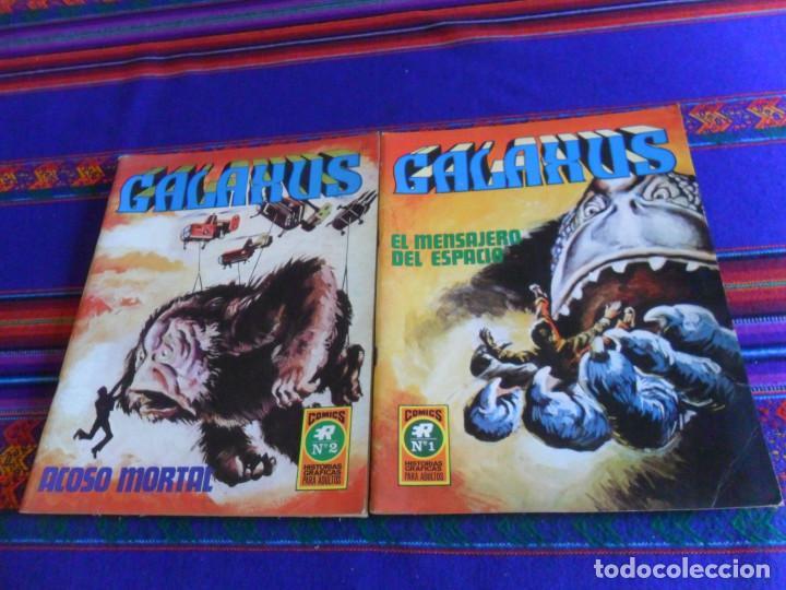 GALAXUS NºS 1 Y 2. ROLLÁN 1972. 25 PTS. BUEN ESTADO. (Tebeos y Comics - Rollán - Series Rollán (Azul, Roja, etc))