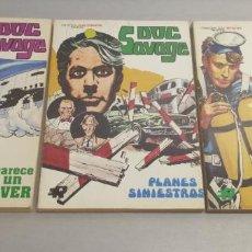 Tebeos: DOC SAVAGE / COMPLETA 3 TOMOS / ROLLÁN 1974. Lote 210140963
