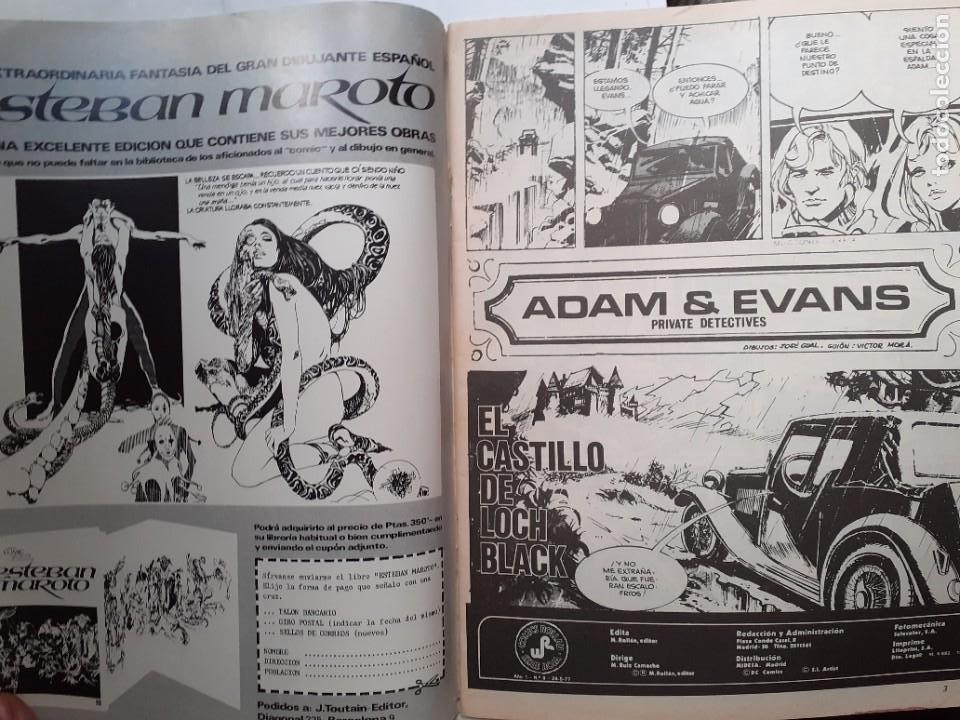 Tebeos: ADAM & EVANS-ROLLÁN-SERIE ROJA- Nº 2 -EL CASTILLO DE LOCH BLACK-1977-GRAN JOSEP GUAL-BUENO-LEA-3731 - Foto 4 - 218041183