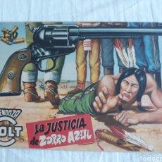 Tebeos: MENDOZA COLT N? 26 - LA JUSTICIA DE ZORRO AZUL - ORIGINAL. Lote 220082690
