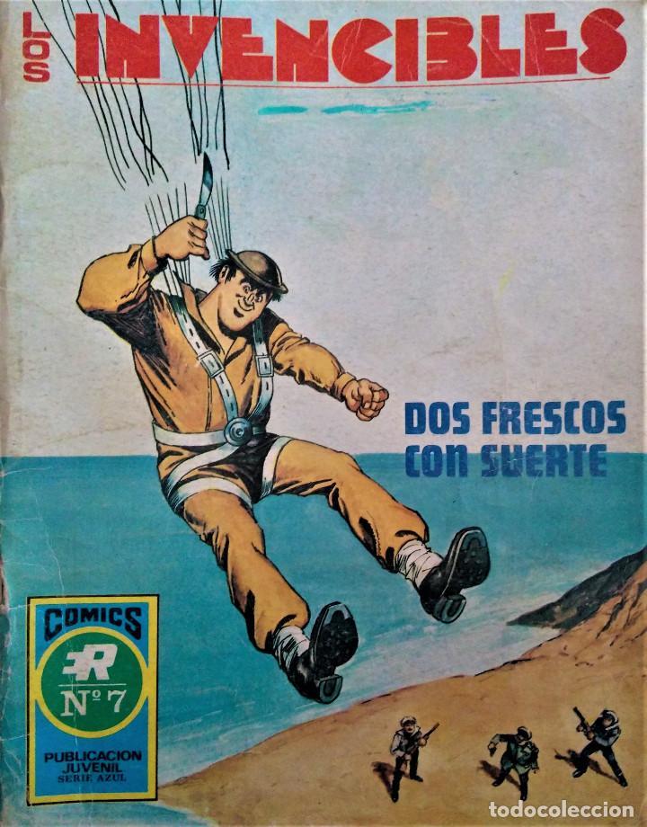 LOS INVENCIBLES - DOS FRESCOS CON SUERTE - Nº 7 - EDITORIAL ROLLAN S.A. 1973 (Tebeos y Comics - Rollán - Otros)