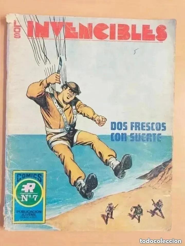 LOS INVENCIBLES - DOS FRESCOS CON SUERTE. ROLLAN. SERIE AZUL. NUM 7 (Tebeos y Comics - Rollán - Series Rollán (Azul, Roja, etc))