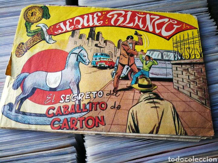 JEQUE BLANCO- EL SECRETO DEL CABALLITO DE CARTÓN, N°127. EDITORIAL ROLLÁN. (Tebeos y Comics - Rollán - Jeque Blanco)