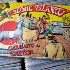 Tebeos: JEQUE BLANCO- EL SECRETO DEL CABALLITO DE CARTÓN, N°127. EDITORIAL ROLLÁN.. Lote 222626375
