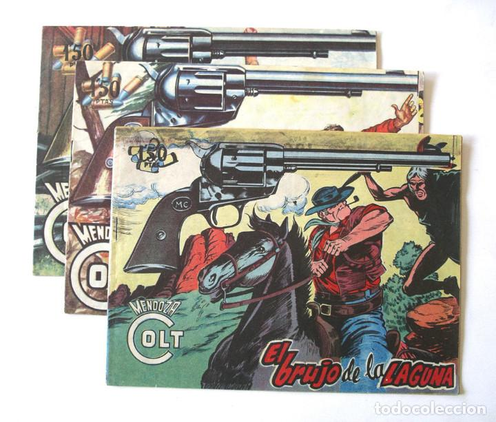 MENDOZA COLT LOTE 25 CÓMICS PUBLICADA LISTA, EDITORIAL ROLLAN MADRID (Tebeos y Comics - Rollán - Mendoza Colt)
