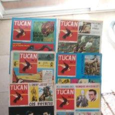 Tebeos: TUCAN ORIGINAL COMPLETA 1 AL 8 - EDI. ROLLAN 1966 - 32 X 26 CMS.. Lote 233759165