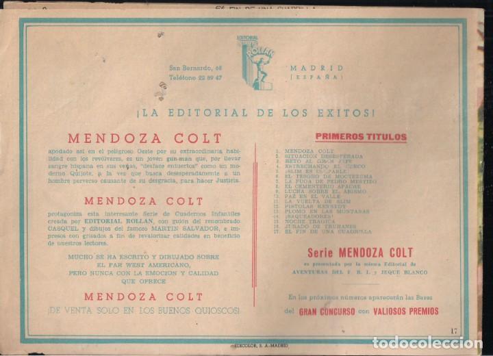 Tebeos: MENDOZA COLT Nº 17: EL FIN DE UNA CUADRILLA - Foto 2 - 235141650